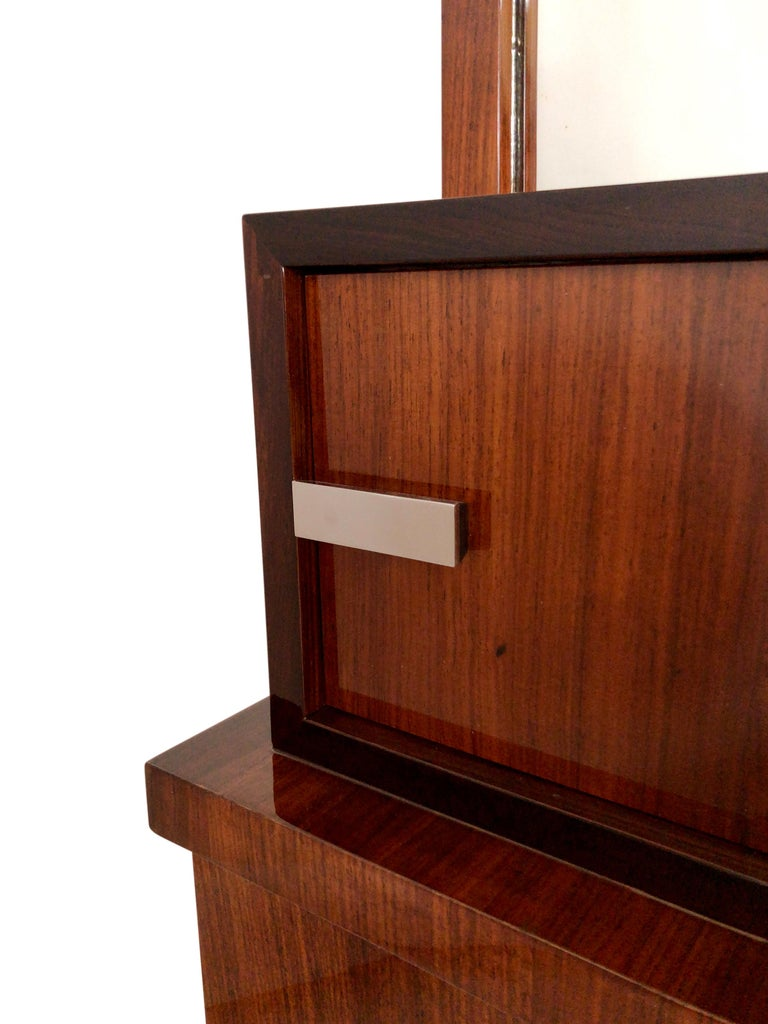 20th Century 1930s French Art Deco Shelve with Mirror by Auguste Vallin For Sale