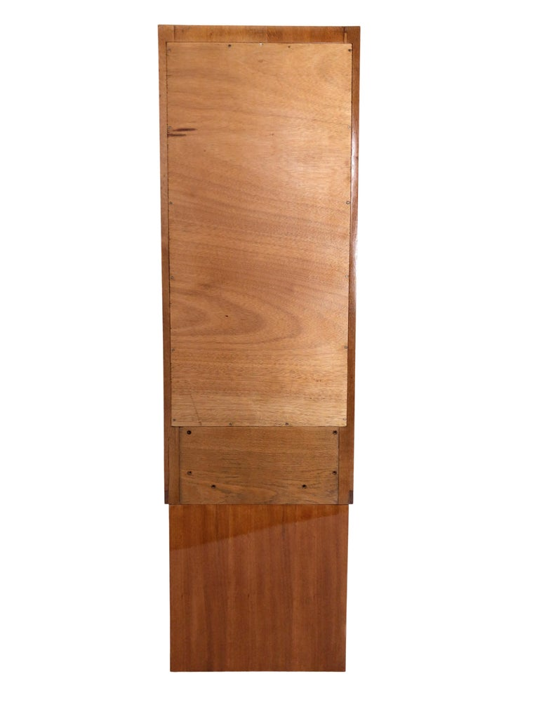 1930s French Art Deco Shelve with Mirror by Auguste Vallin For Sale 1