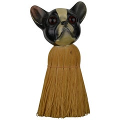 1930s French Bulldog Brush with Turtle Shell Head, Europe