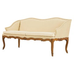 1930s French Carved Oak Sofa