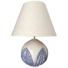 1930s French Ceramic Globe Lamp