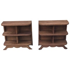 1930s French Deco Bookcases/1930s Bedside Tables/1930s Storage Cabinets