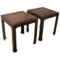 1930s French Pair of Carey Tortoise Shell Side Tables