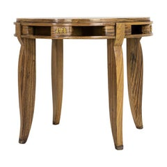 1930s French Parquetry Centre Table with Ormolu Mounts