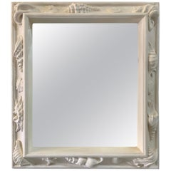 1930s French Plaster Mirror Attributed to Emilio Terry