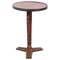 1930s French Small Cast Iron Round Bistro, Occasional Table