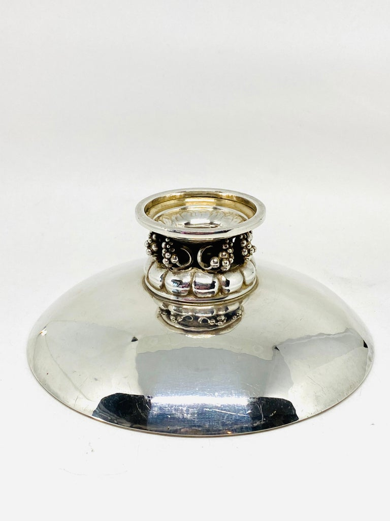 Women's or Men's 1930s Georg Jensen Sterling Silver Decorative Bowl 296 E For Sale