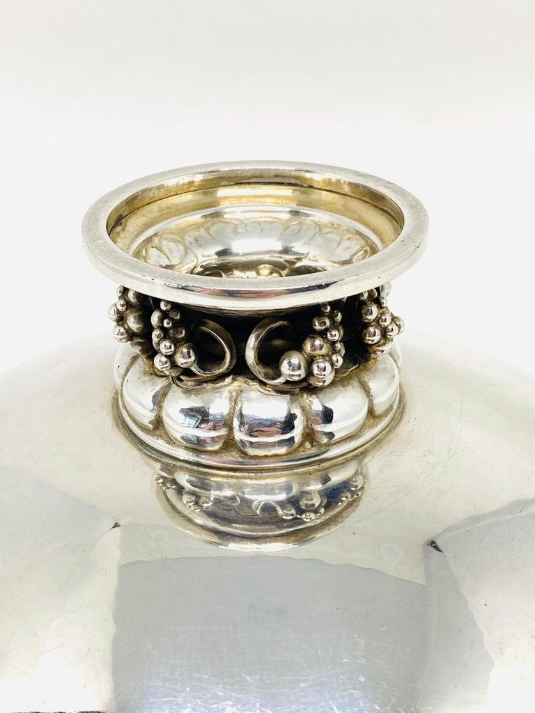 1930s Georg Jensen Sterling Silver Decorative Bowl 296 E For Sale 1