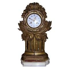 1930s Gilded Wood Clock