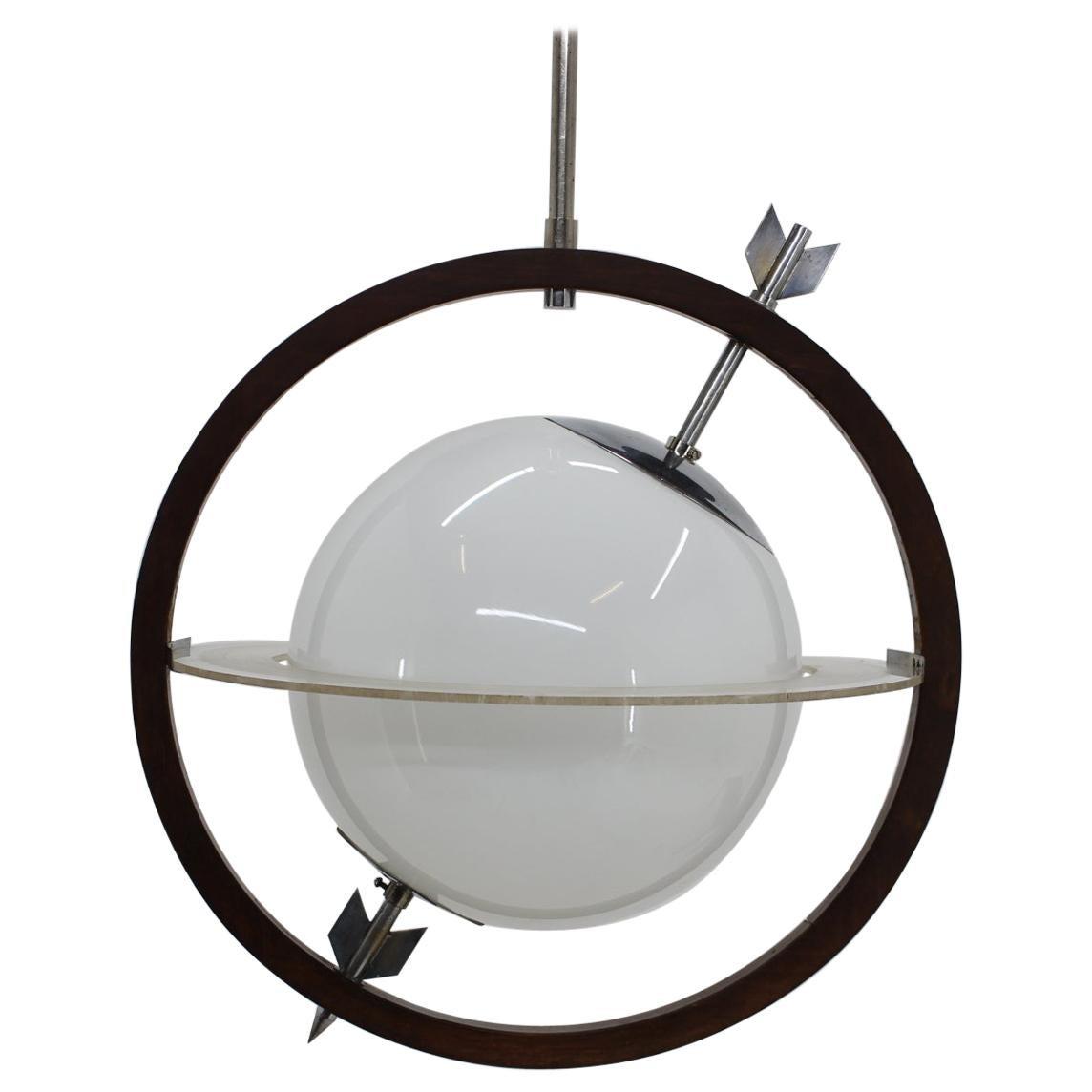 1930s Gio Ponti & Pietro Chiesa Saturn Pendant Light for Fontana Arte