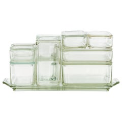 1930s Glass Containers by Wilhelm Wagenfeld
