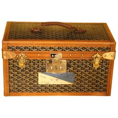 1930s Goyard Jewelry Case, Goyard Trunk, Goyard Train Case