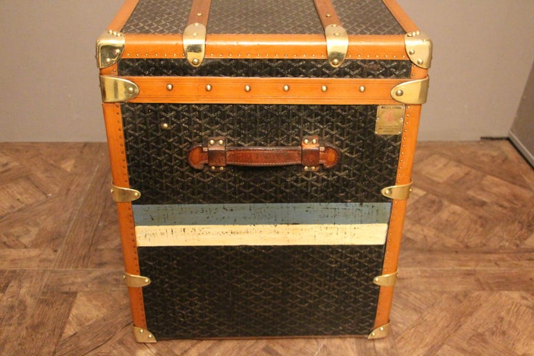 1930s Goyard Trunk, Goyard Steamer Trunk For Sale 4