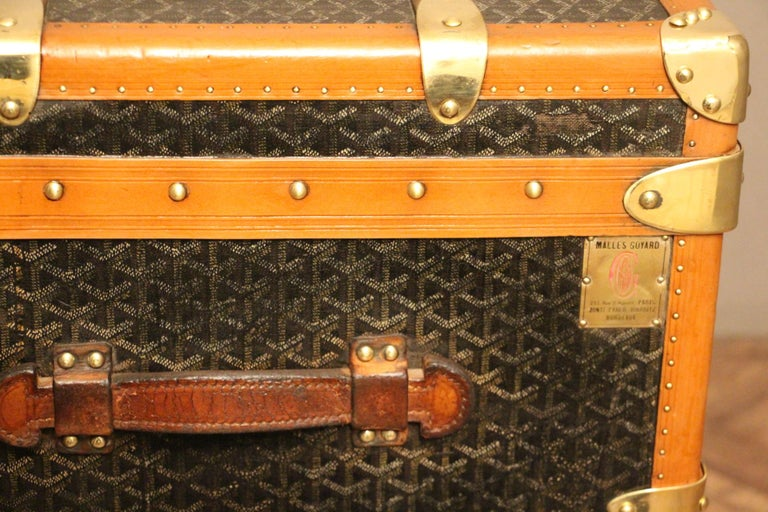 1930s Goyard Trunk, Goyard Steamer Trunk For Sale 5