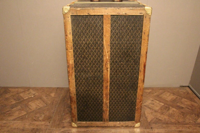 1930s Goyard Trunk, Goyard Steamer Trunk For Sale 6