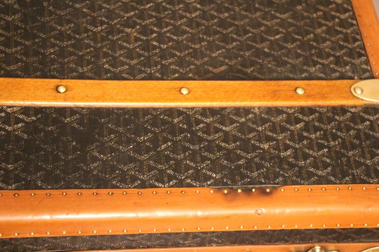 1930s Goyard Trunk, Goyard Steamer Trunk For Sale 7
