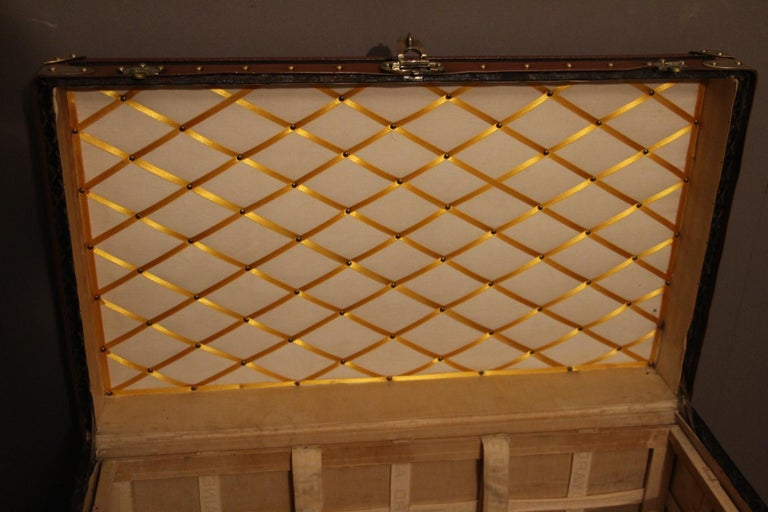 1930s Goyard Trunk, Goyard Steamer Trunk For Sale 9