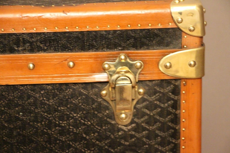 French 1930s Goyard Trunk, Goyard Steamer Trunk For Sale