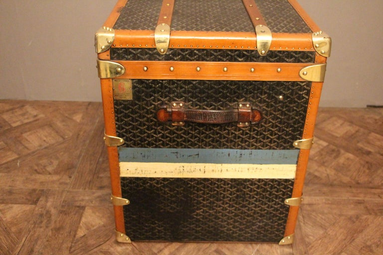 1930s Goyard Trunk, Goyard Steamer Trunk For Sale 1