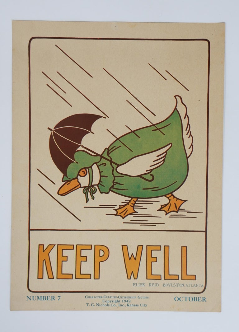 Folk Art 1930s Graphically Bold Character Culture and Citizenship Posters For Sale