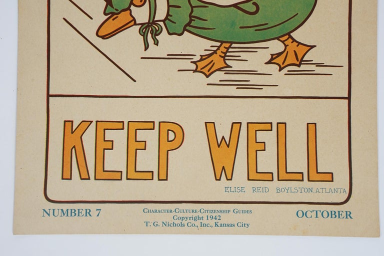 American 1930s Graphically Bold Character Culture and Citizenship Posters For Sale