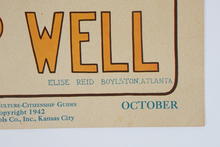 Embossed 1930s Graphically Bold Character Culture and Citizenship Posters For Sale