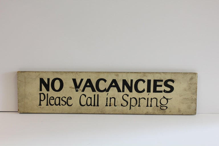 1930s hand-painted double sided wood sign