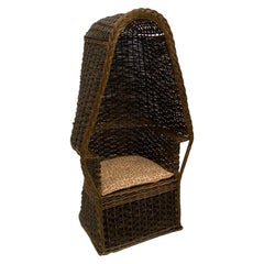 1930s Hand Woven Wicker Porter's Chair