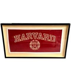 1930s Harvard University Cloth Banner
