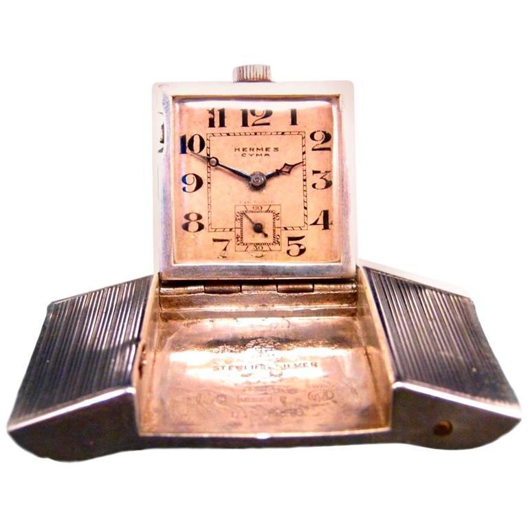 1930s Hermès Belt Buckle Golfer's Watch For Sale