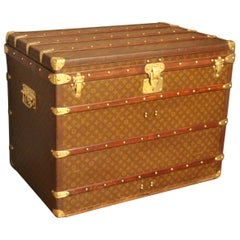 1930s High Louis Vuitton Trunk, Louis Vuitton Courrier Steamer Trunk
