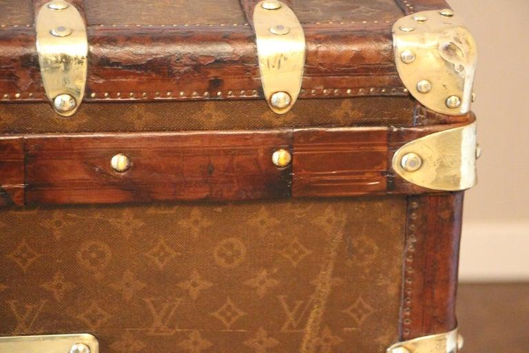 1930s High Louis Vuitton Trunk, Louis Vuitton Courrier Steamer Trunk Extra Large For Sale 6