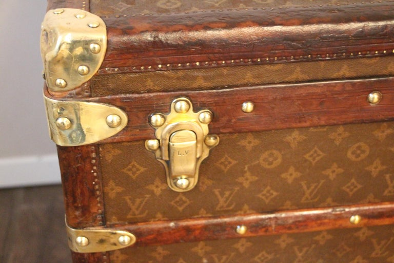 Mid-20th Century 1930s High Louis Vuitton Trunk, Louis Vuitton Courrier Steamer Trunk Extra Large For Sale