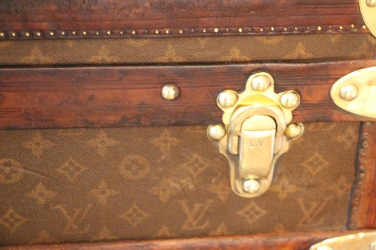1930s High Louis Vuitton Trunk, Louis Vuitton Courrier Steamer Trunk Extra Large For Sale 1