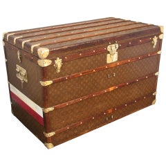 1930s High Louis Vuitton Trunk, Louis Vuitton Courrier Steamer Trunk Extra Large