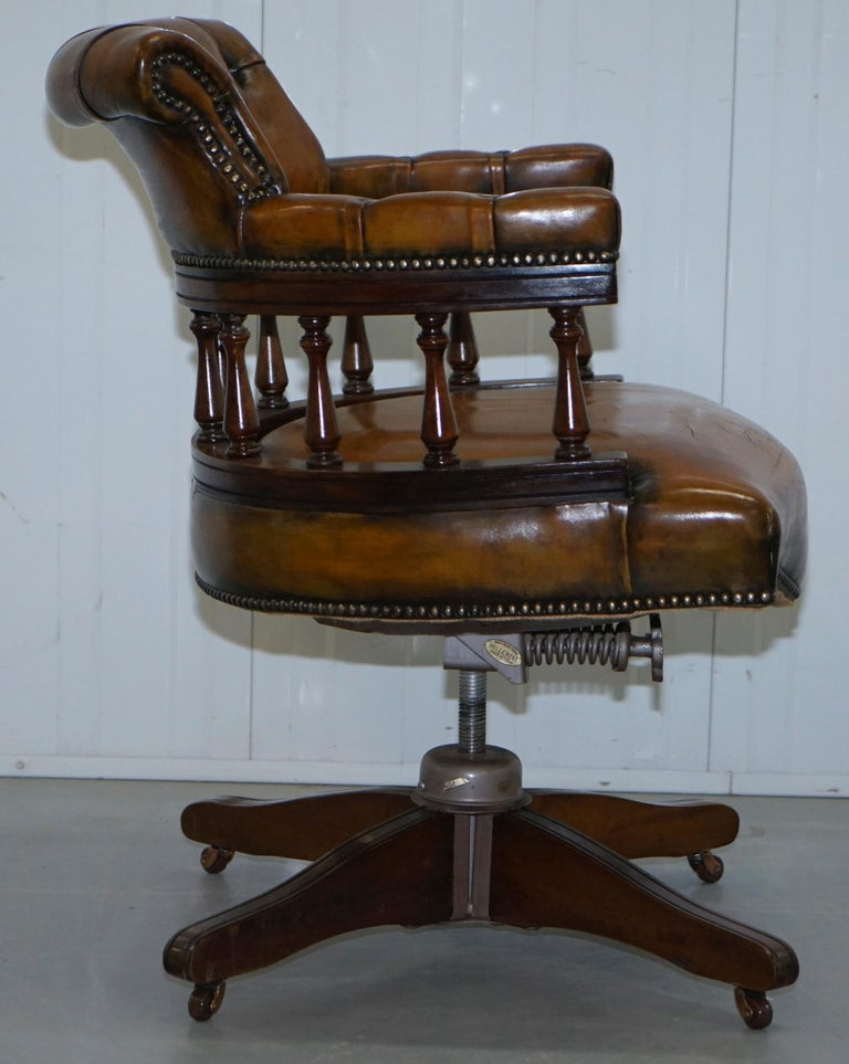 1930s Hillcrest Chesterfield Vintage Brown Leather