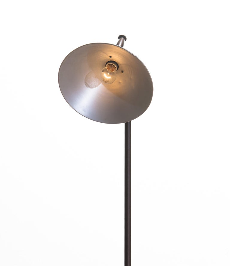 1930s Industrial Brass or Cast Iron Floor Lamp Made by Faries Mfg & Co, USA 4