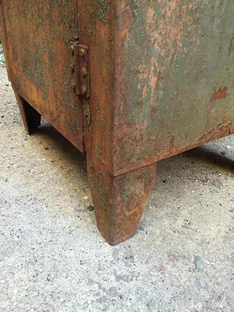 1930s Industrial Metal Locker Cabinet For Sale 4