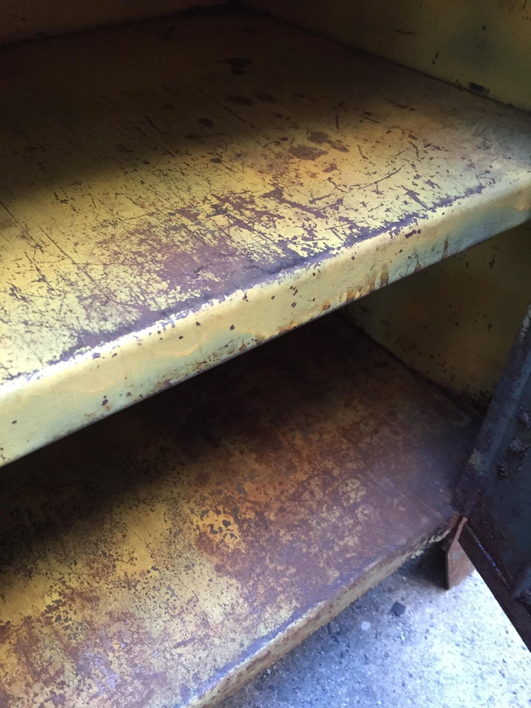 1930s Industrial Metal Locker Cabinet For Sale 6