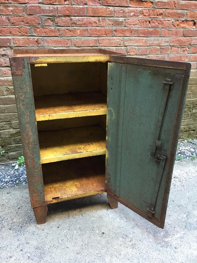 1930s Industrial Metal Locker Cabinet For Sale 1