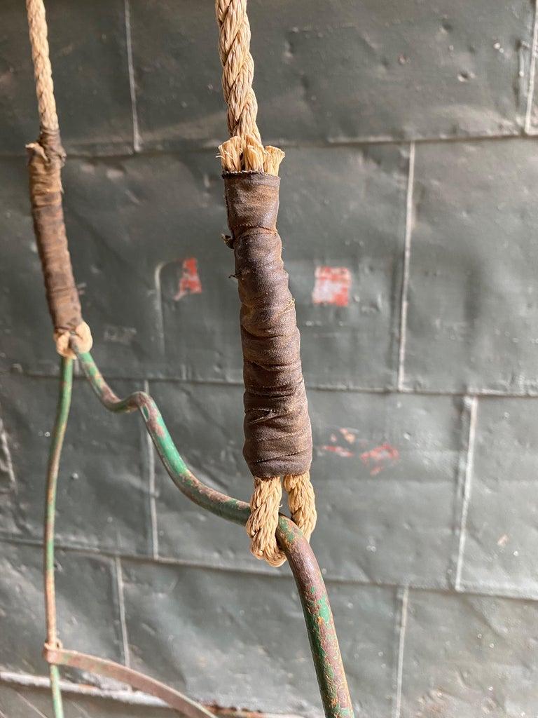 1930s Iron Hoop Tree Swing For Sale 7