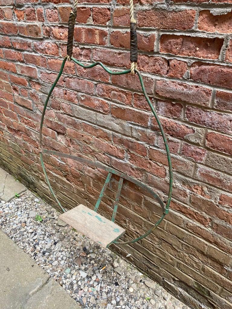 American 1930s Iron Hoop Tree Swing For Sale