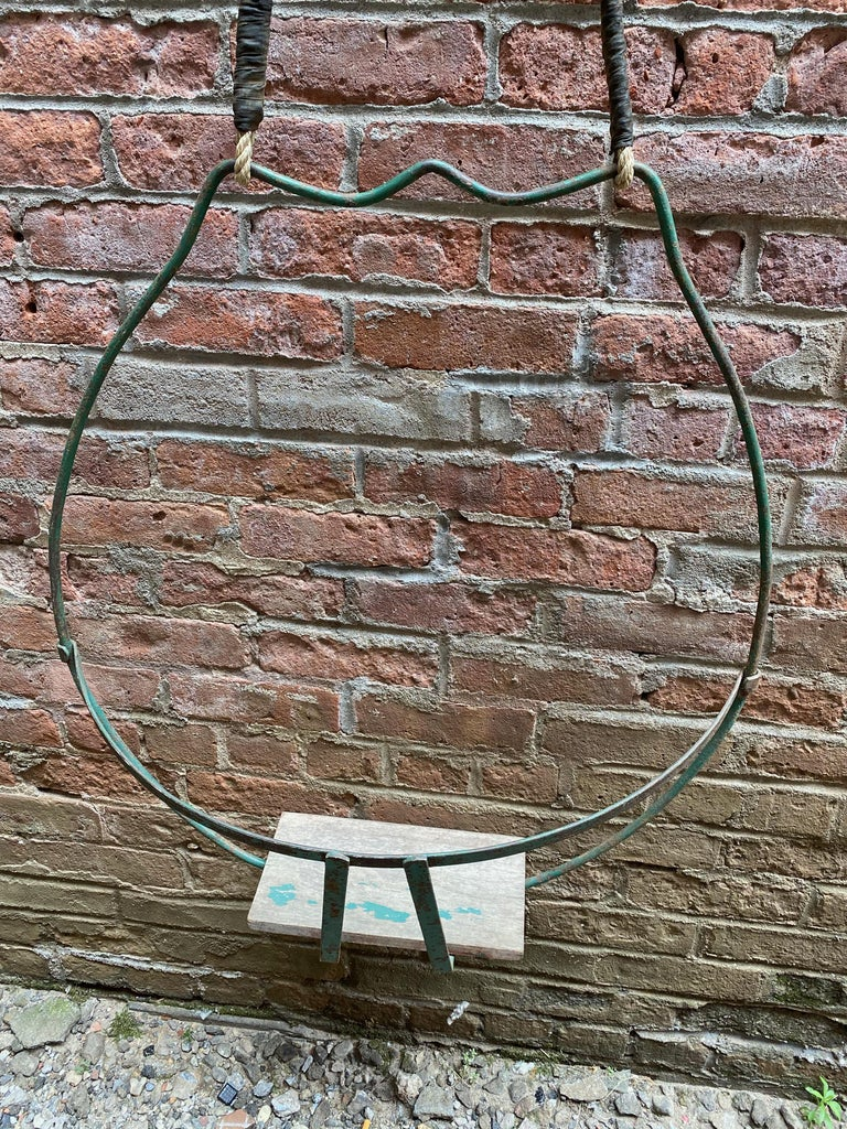 Mid-20th Century 1930s Iron Hoop Tree Swing For Sale