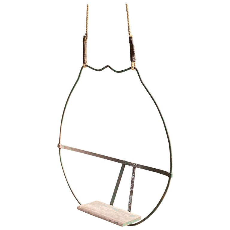 1930s Iron Hoop Tree Swing For Sale