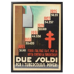 Italian Futurist Medical Sketch of a Campaign Against Tuberculosis 1930