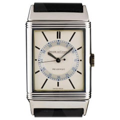 1930s Jaeger LeCoultre Reverso Vintage Steel Silver Dial Manual Wind