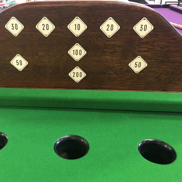 Billiards is one of the oldest table games in the world, and this specially made table is the perfect place to play.