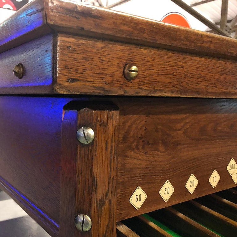 Oak 1930s Jelkes Bar Billiards Table For Sale
