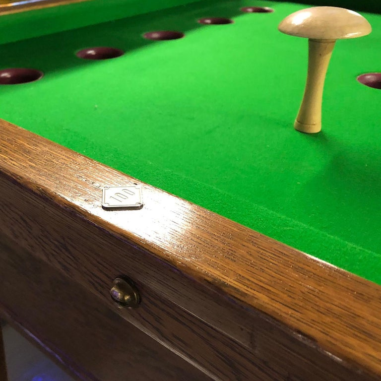 1930s Jelkes Bar Billiards Table For Sale 1