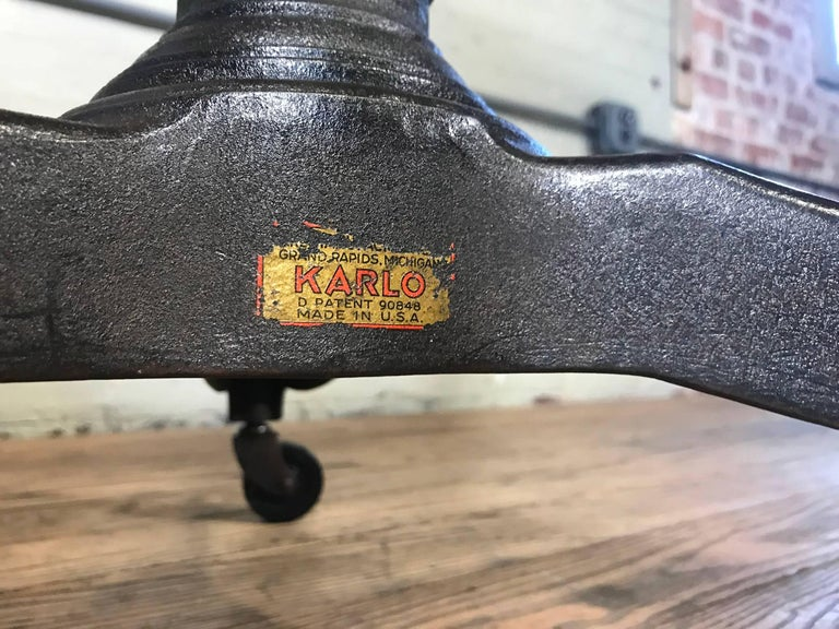 Rolling Pedestal Table 1930s